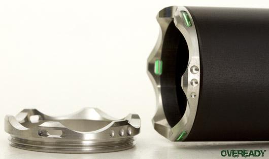 Insider #33 Tritium Bezel Rings, Silver 6P, Moddoolar M & E adapters, DB Aluminum Tailcap, Cryos 2 Bezel, Z32 Bezel Tool, Peak Adapters