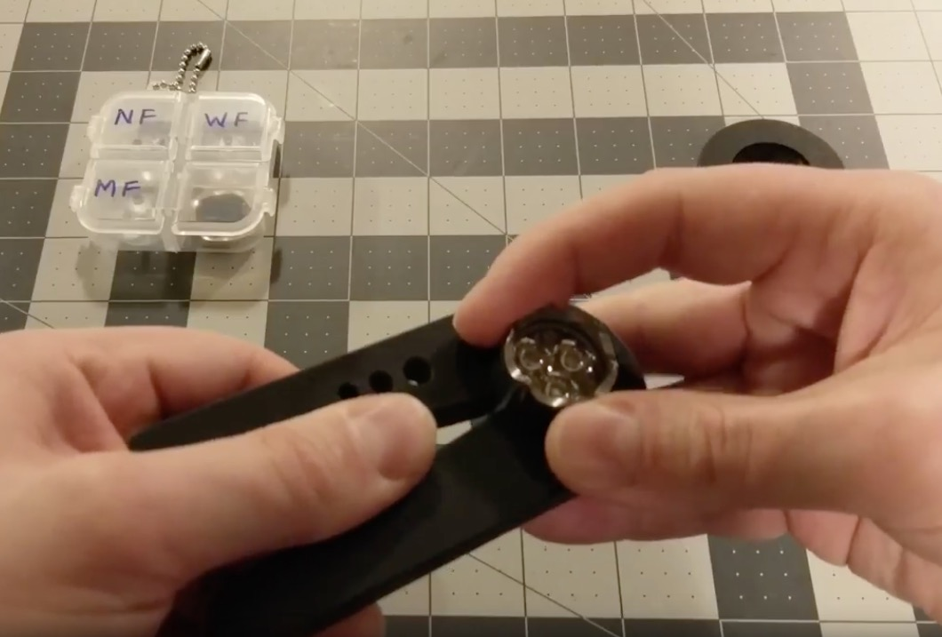 How to properly swap the optic and bezel on an Oveready BOSS light!