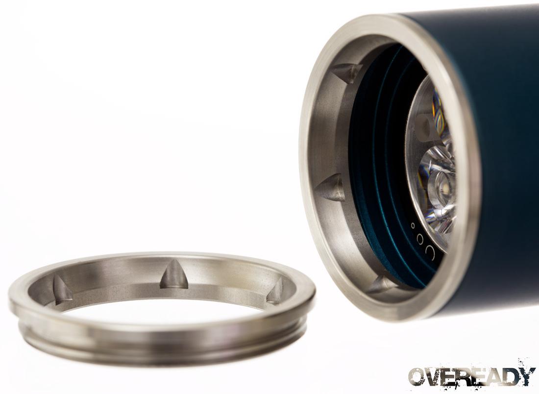 Insider #45 USA Smooth Z44 Bezel Rings (stainless, brass, copper, titanium), Modern M2 XML, XTAR chargers, 26650 battery