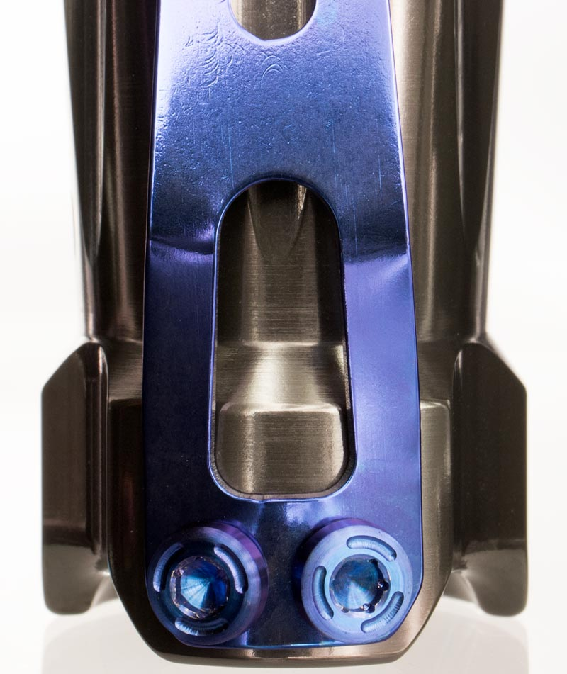 titanium Flashlight Clip Blue