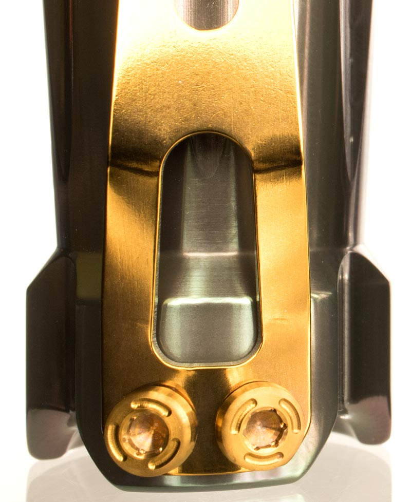 titanium Flashlight Clip Gold